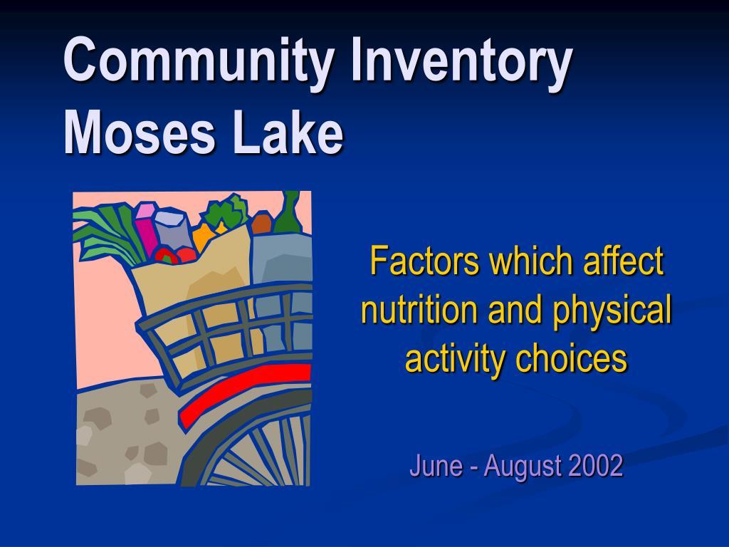 community inventory moses lake l.