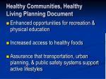 healthy communities healthy living planning document