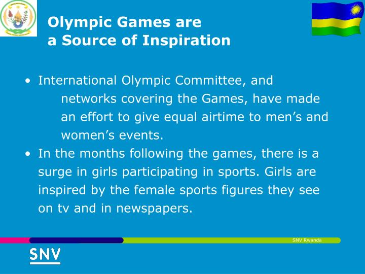Olympic Inspiration: The Contribution Of Sports To Gender Equality And