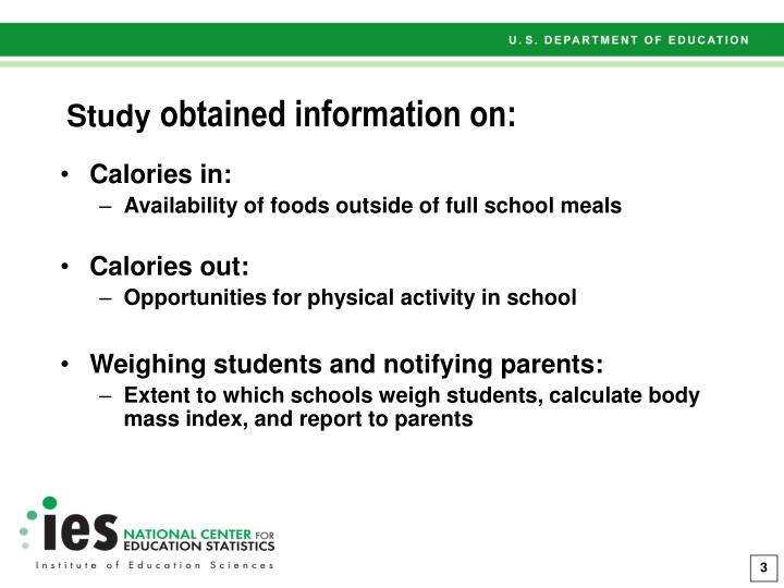 Study obtained information on