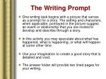 the writing prompt