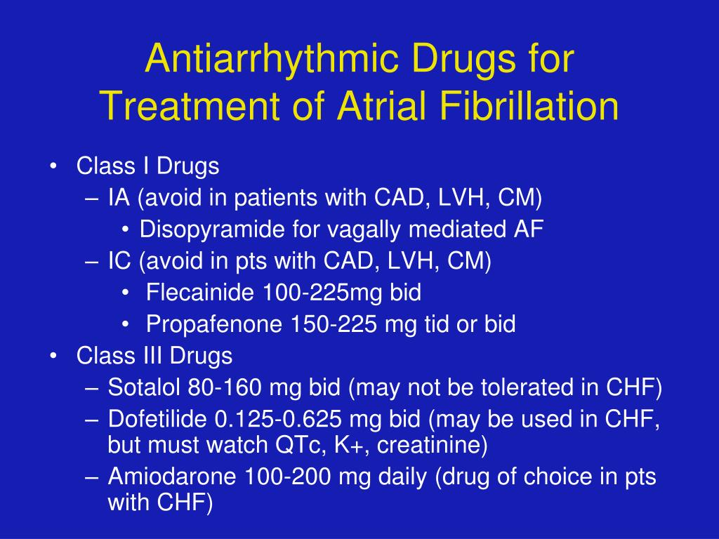 PPT - Update on the Treatment of Atrial Fibrillation