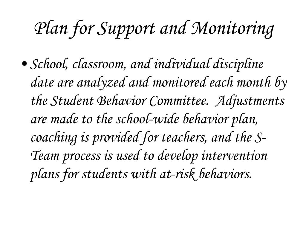 Plan for Support and Monitoring