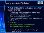 aging and atrial fibrillation1