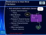medications to treat atrial fibrillation