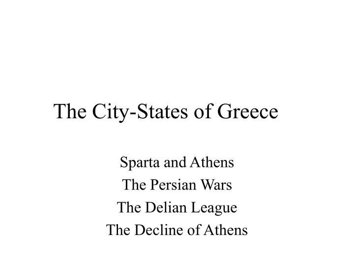 the city states of greece