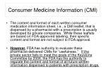 consumer medicine information cmi9