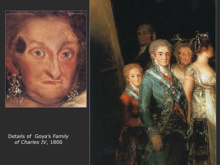 Details of  Goya's