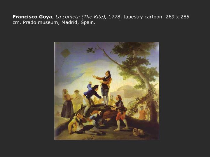Francisco goya la cometa the kite 1778 tapestry cartoon 269 x 285 cm prado museum madrid spain