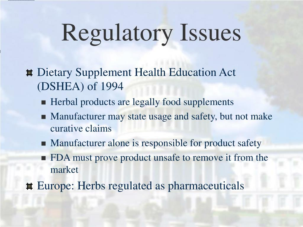 Regulatory Issues