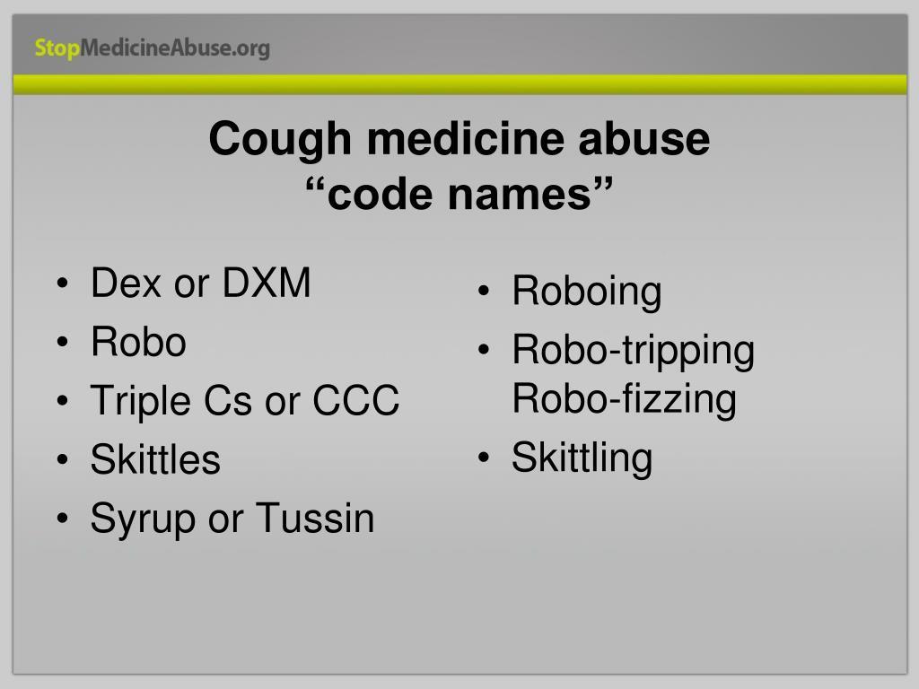 Cough medicine abuse
