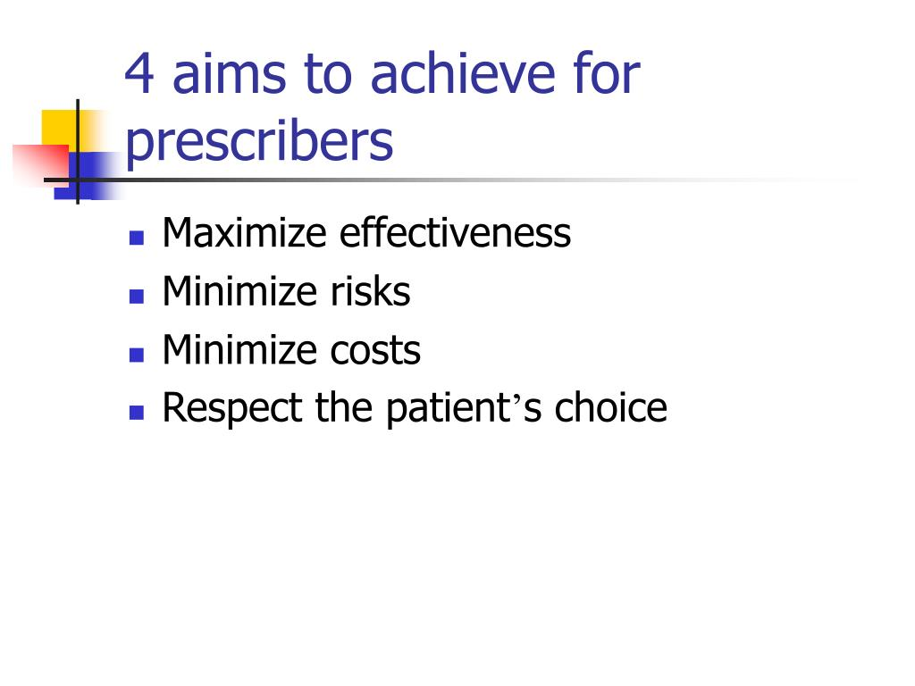 4 aims to achieve for prescribers