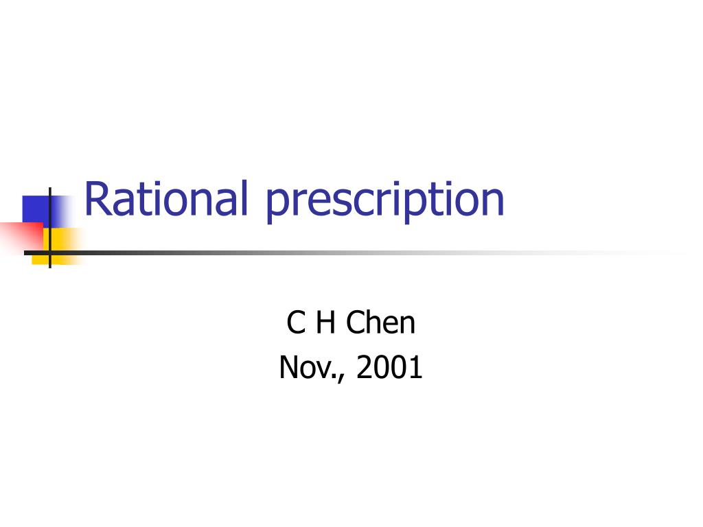 rational prescription l.