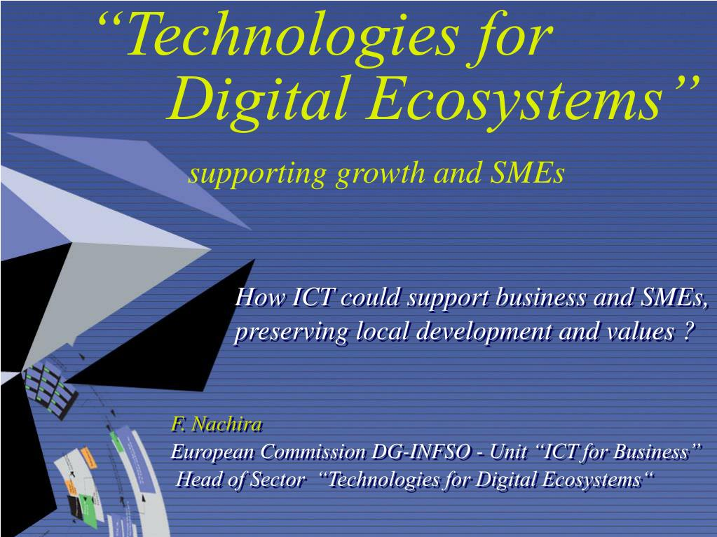 technologies for digital ecosystems supporting growth and smes l.