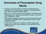 outcomes of prescription drug abuse