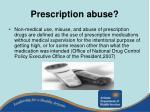 prescription abuse