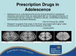 prescription drugs in adolescence