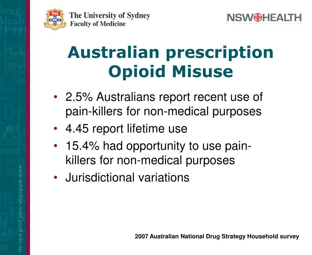 Australian prescription Opioid Misuse