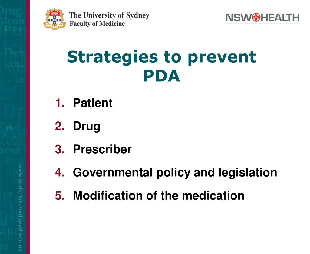 Strategies to prevent PDA