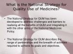 what is the national strategy for quality use of medicines