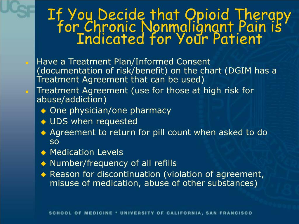 If You Decide that Opioid Therapy
