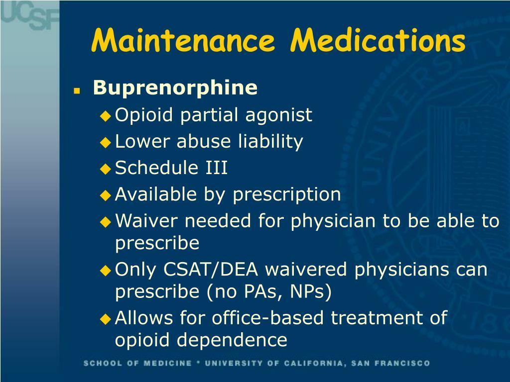 Maintenance Medications