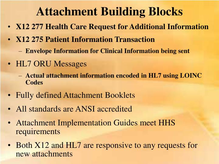 Attachment Building Blocks