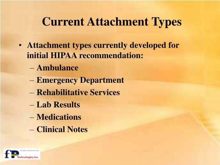 Current Attachment Types