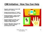 cmi initiative how you can help