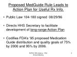 proposed medguide rule leads to action plan for useful rx info