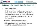 indicators for health care facilities 3