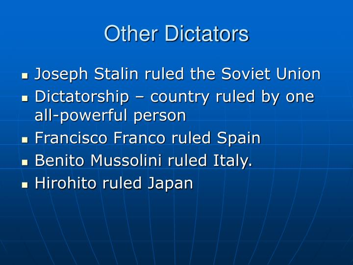 was mussolini an all powerful dictator essay The conclusion of the essay states that mussolini primarily org 2016 was the all-powerful dictator of germany documents similar to extended essay: history.