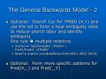 the general backwards model 2
