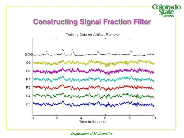 Constructing Signal Fraction Filter