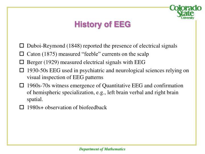 History of EEG