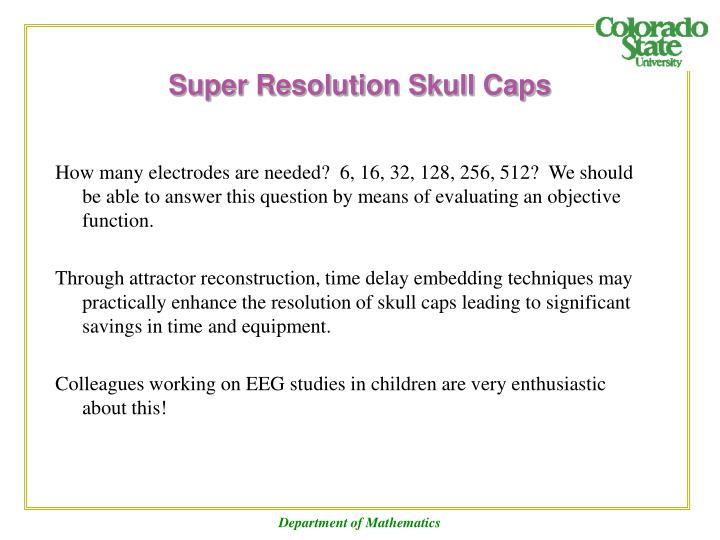 Super Resolution Skull Caps