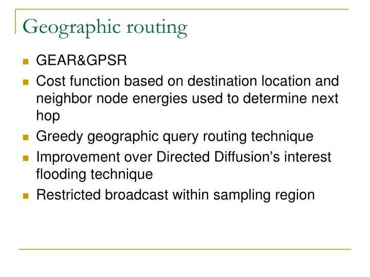 Geographic routing