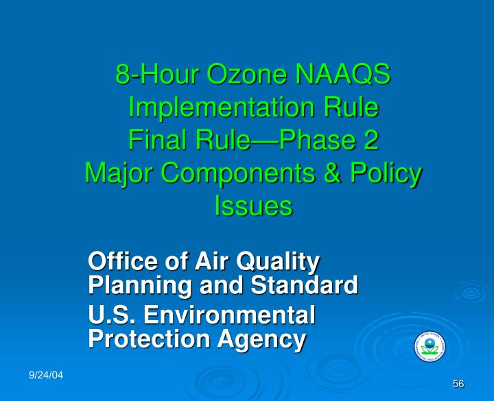8-Hour Ozone NAAQS Implementation Rule