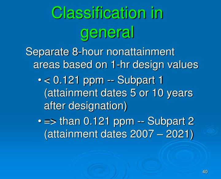 Classification in general