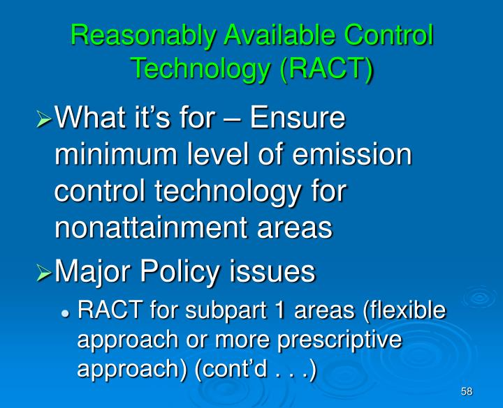 Reasonably Available Control Technology (RACT)