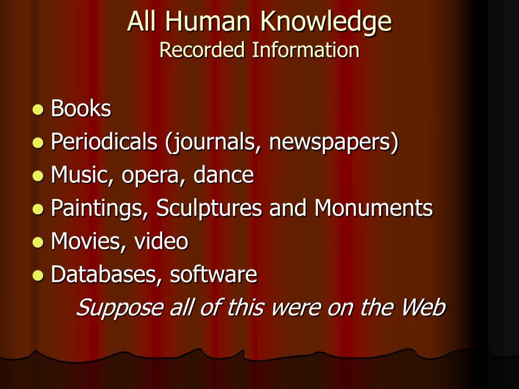 All Human Knowledge