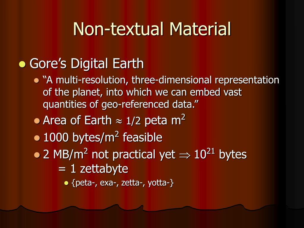 Non-textual Material