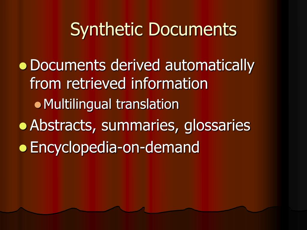 Synthetic Documents