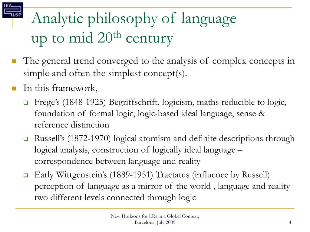 Analytic philosophy of language