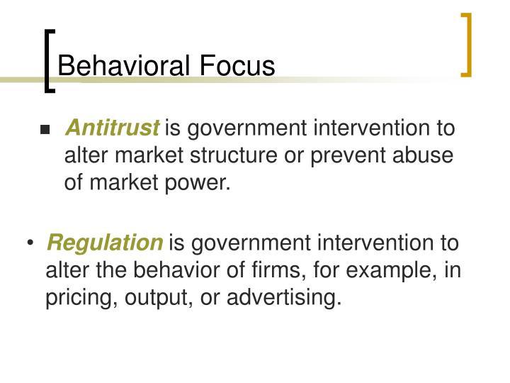 Behavioral Focus