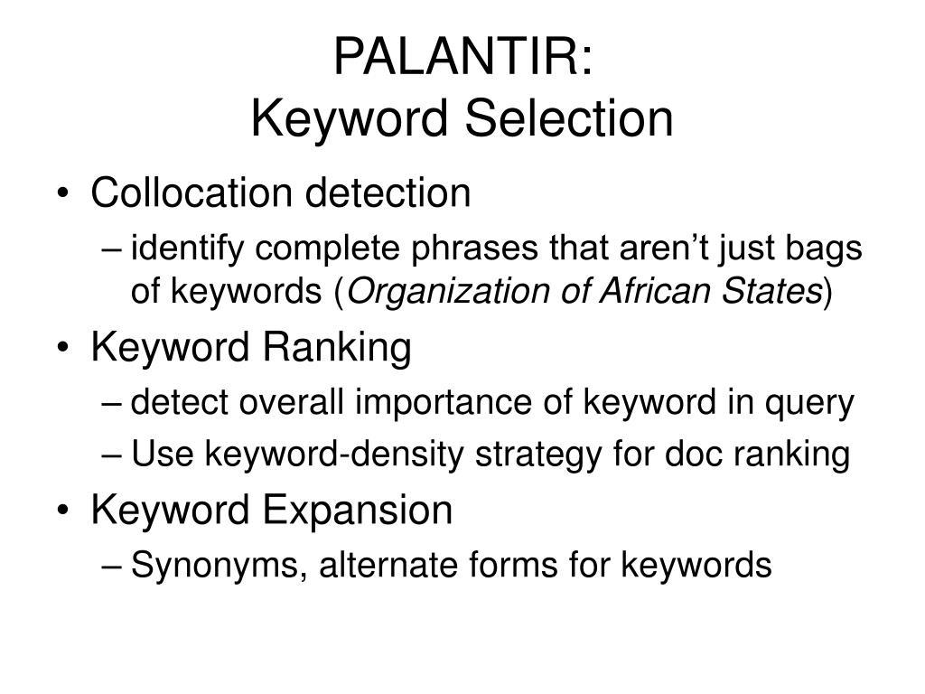 PALANTIR: