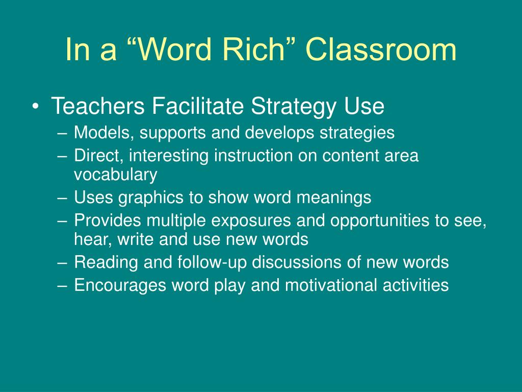 "In a ""Word Rich"" Classroom"