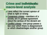 crime and individuals macro level analysis