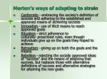 merton s ways of adapting to strain