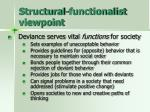 structural functionalist viewpoint